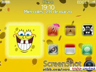 Tema Sponge Bob untuk BlackBerry Curve 9220 Davis