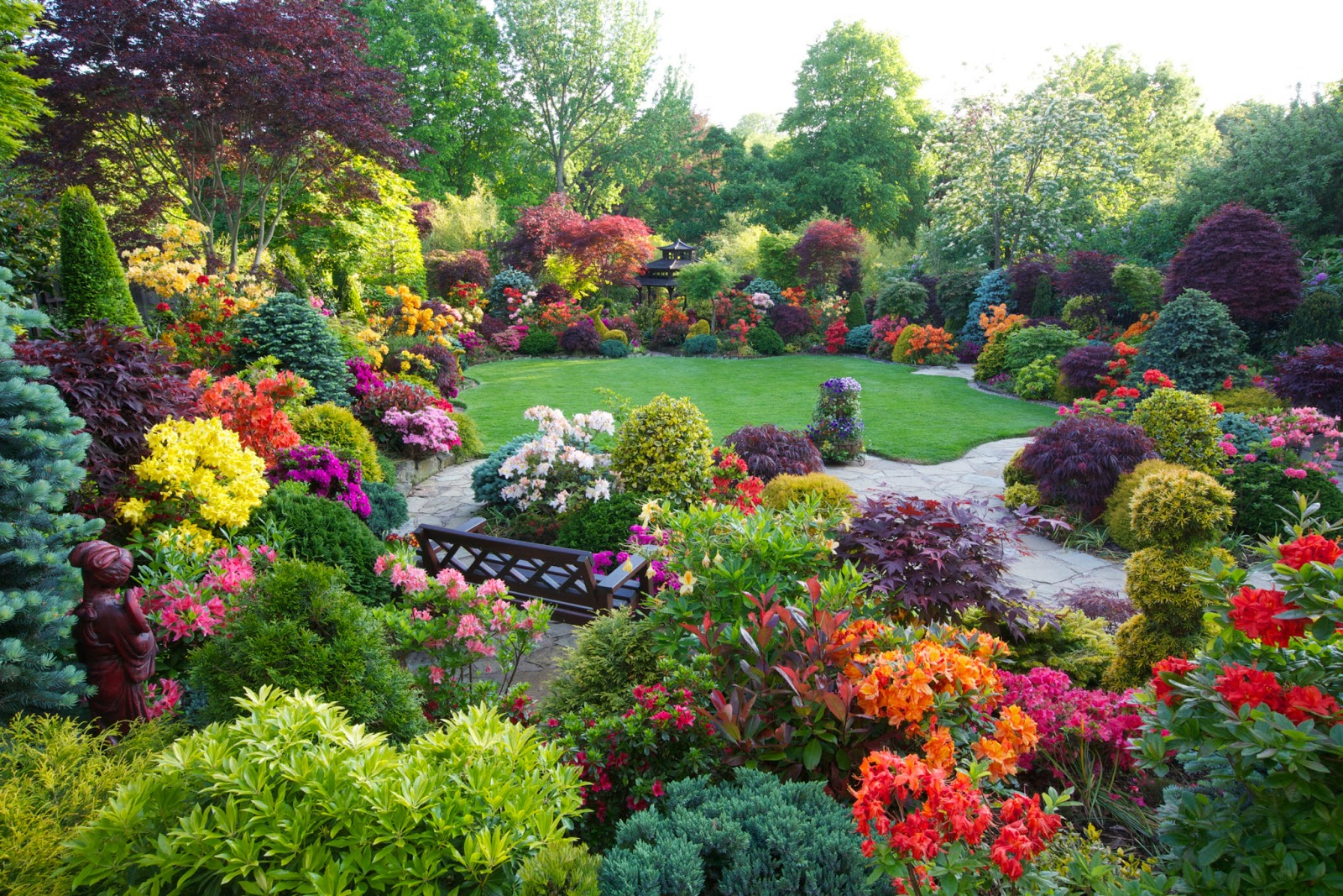 Beautiful Home Flower Gardens