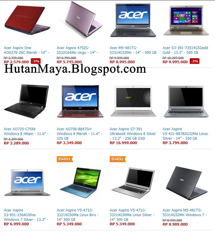 ... tentang Daftar Harga Laptop Acer Januari 2013 Bermanfaat Untuk Anda