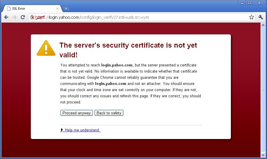 حل مشكلة  Server security certificate not yet valid في المتصفحات للكمبيوتر