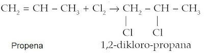 propena 1,2-dikloro-propana