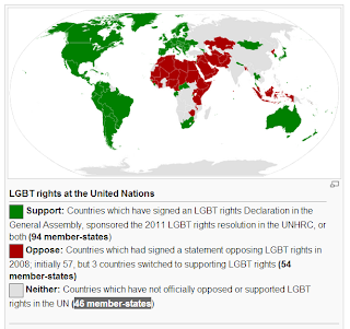 UN gay rights resolution human rights vote by nation