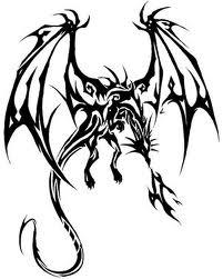 Motif Tato Naga Hitam Putih 14
