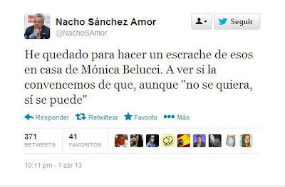 Tuit sobre escraches y Mónica Belluci