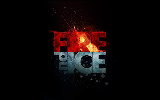 Fire And Ice Photoshop Design HD Wallpaper