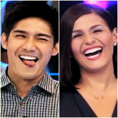 Robi Domingo and Iza Calzado of The Biggest Loser Pinoy Edition Doubles take the challenge of The Singing Bee
