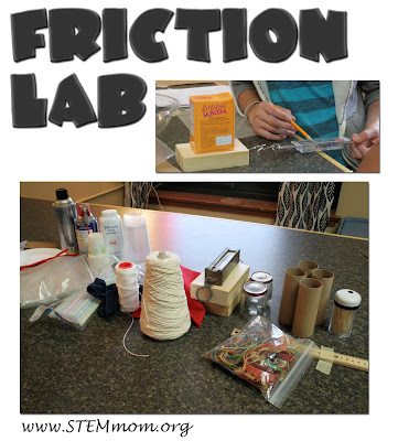 High level inquiry Friction Lab; teacher prep tips and student printable @ STEMmom.org