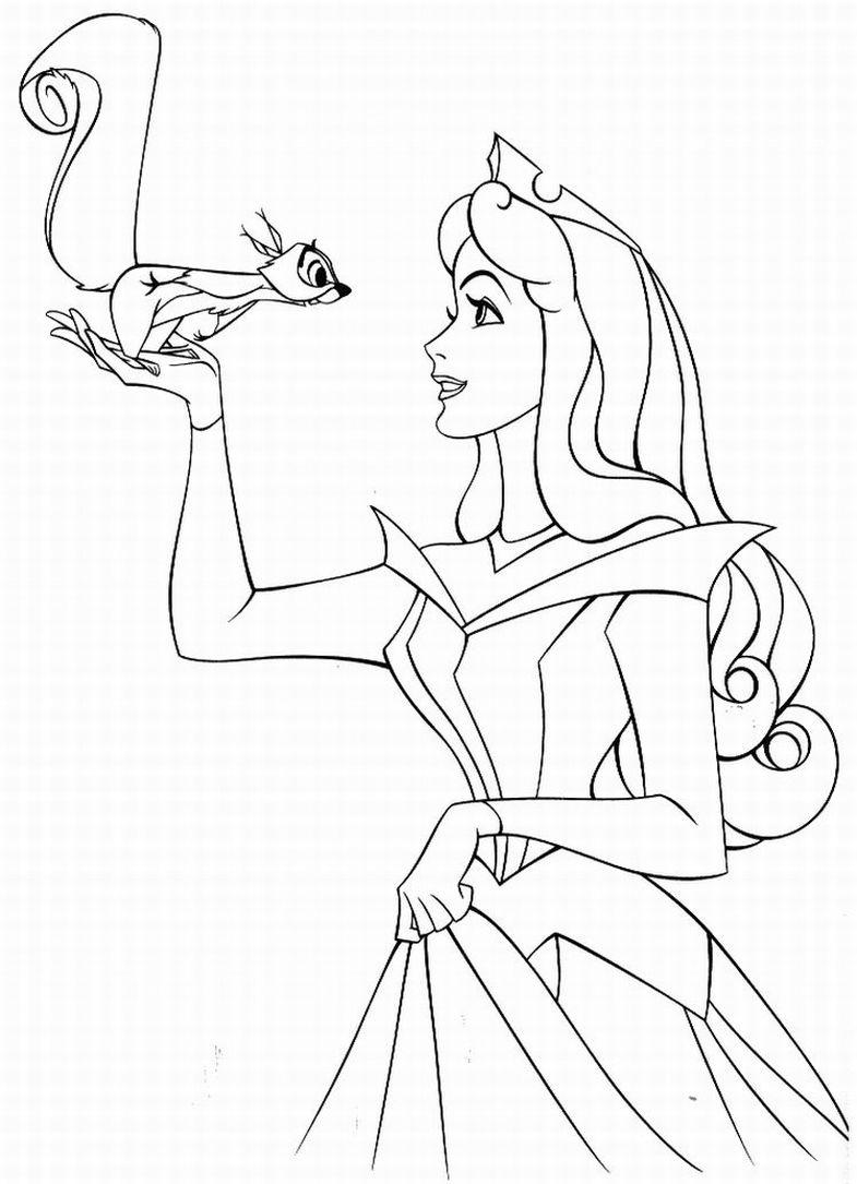 Juegos de pintar dibujos de princesas - Dibujos para colorear