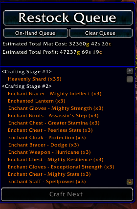Phat Lewts Gold Blog My TSM Crafting Enchanting Setup