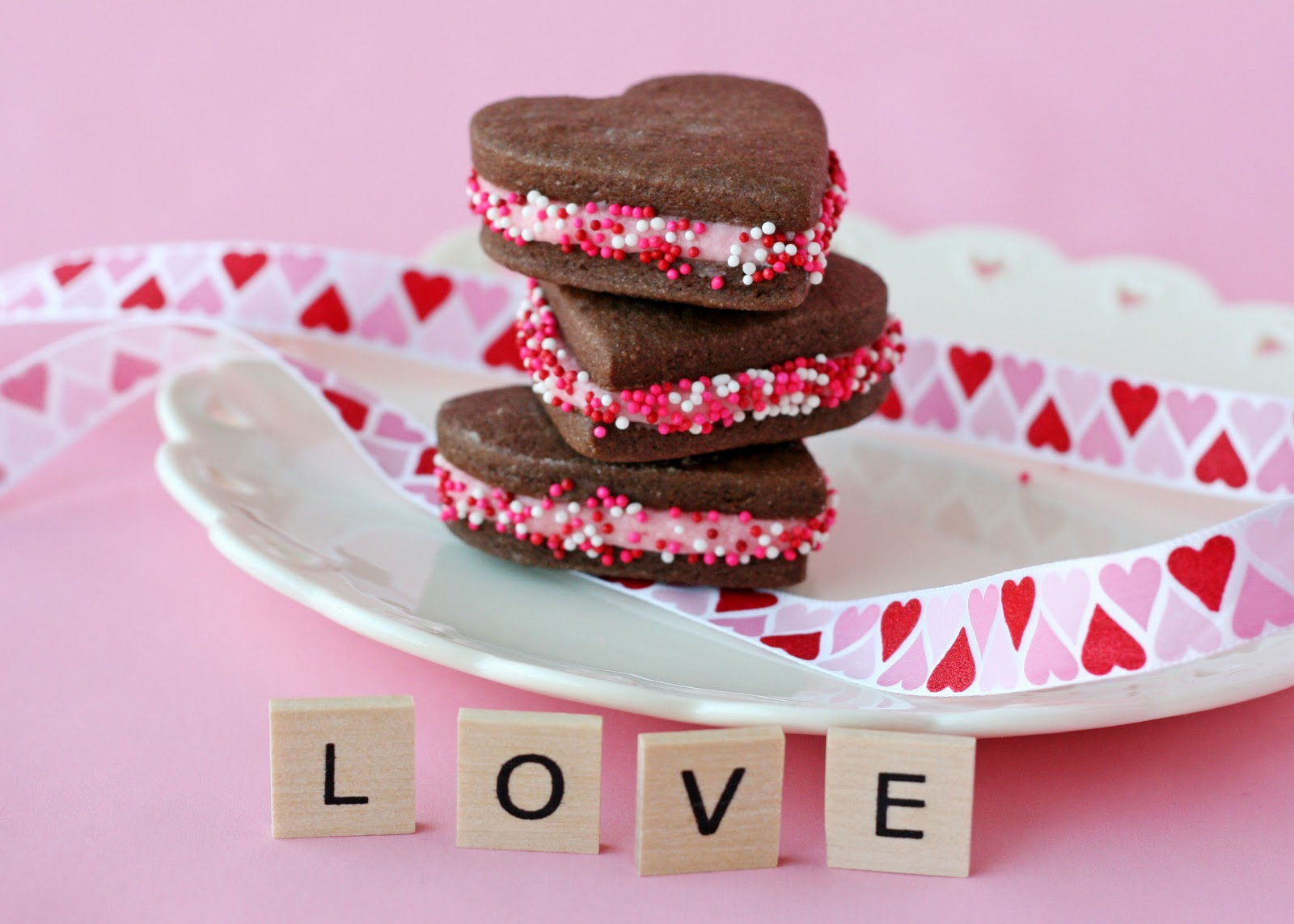 Chocolate Valentine's Sandwich Cookies – Glorious Treats