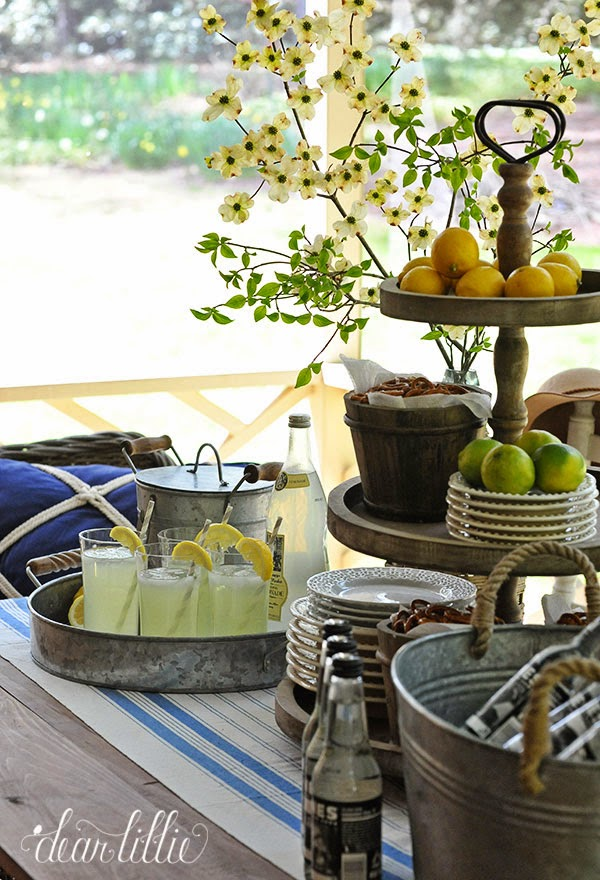 Dear Lillie Lemonade On Our Spring Porch