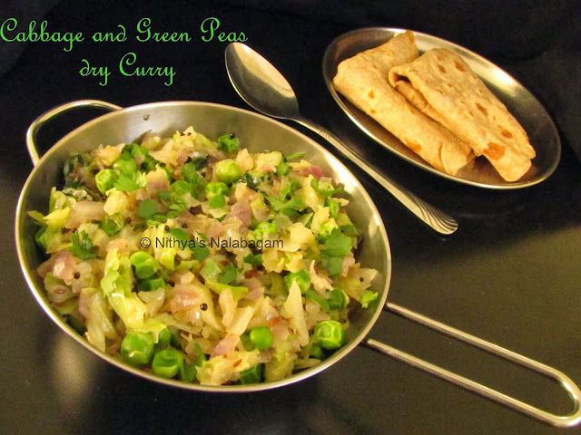 Cabbage and Green Peas Curry