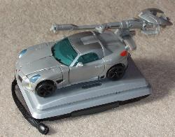 Transformers action figure. It's a car!