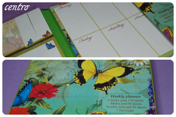 weekly planner centro