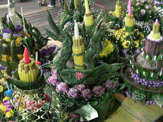 Loy Kratong, buchete de flori