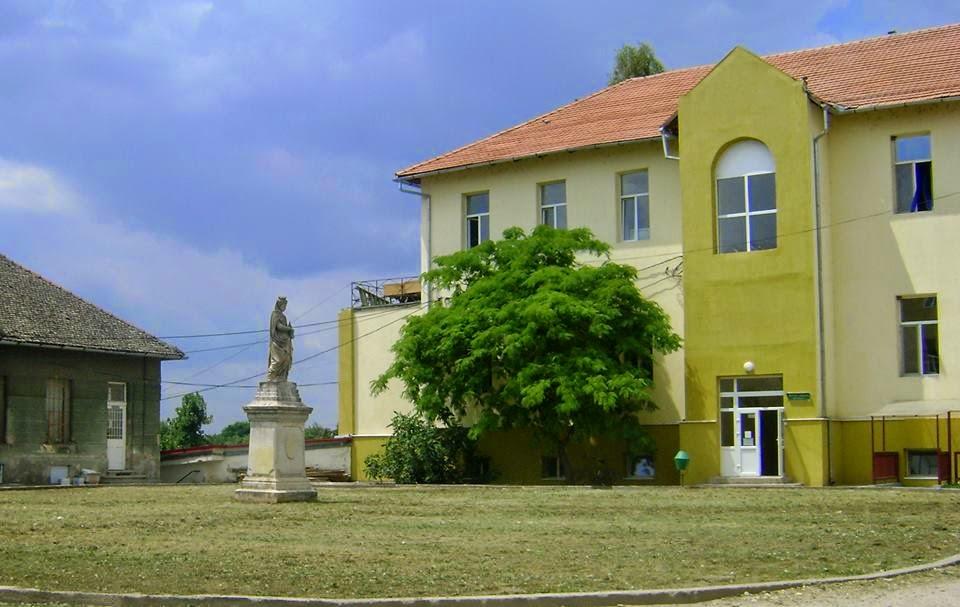 Statuia Berta Nako din curtea spitalului orasenesc