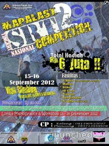 pamflet Lomba SRT 2012 Mapalast