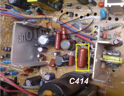 Capacitor abierto sección horizontal