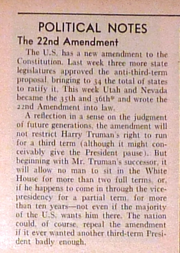 united states constitution and citizenship day 22nd amendment