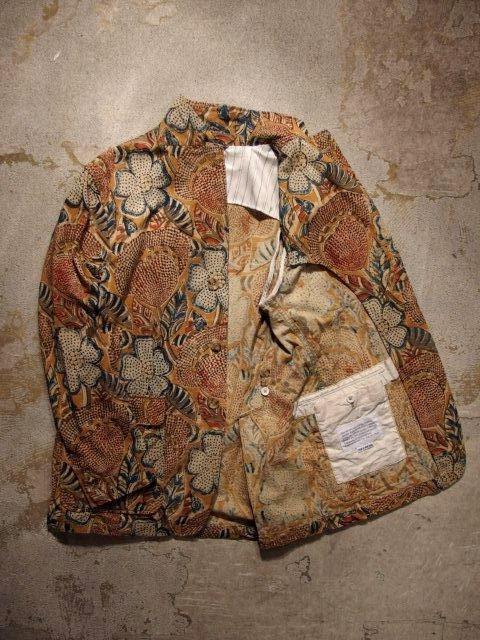 Engineered Garments Baker Jacket in Brown Floral Print Canvas Spring/Summer 2015 SUNRISE MARKET