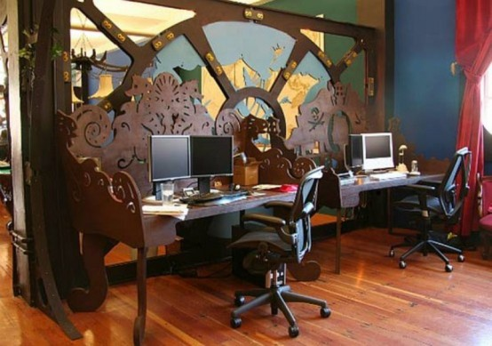 12 crazy steampunk home office designs modern house Steampunk home ideas