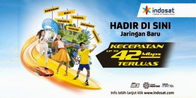 Paket Super Internet Indosat 8GB 42Mb DC-HSPA+ Mentari IM3 Matrix