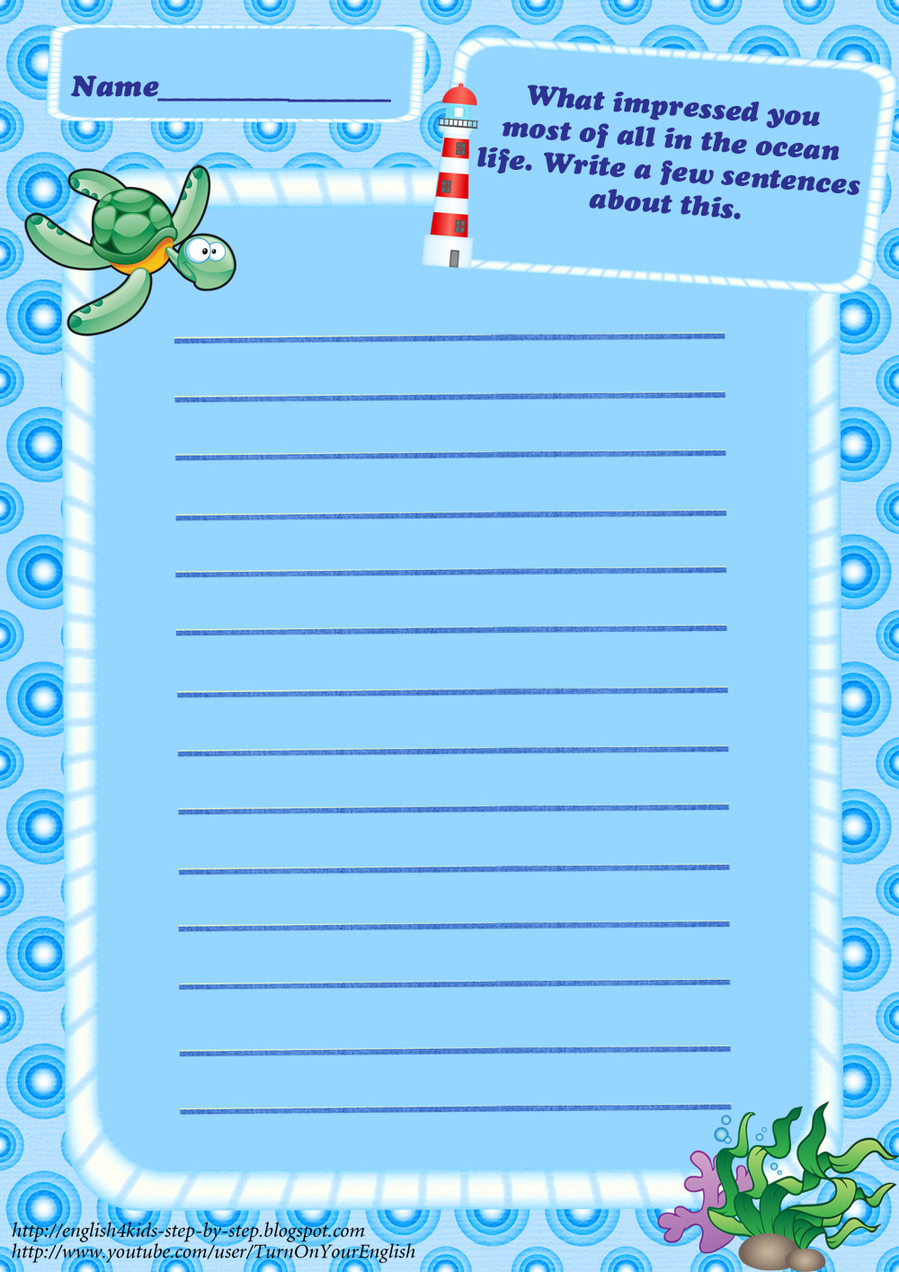 Ocean Animals Worksheets : Ocean animals worksheets