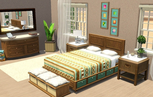Sims 3 interior design inspirations bedroom for Sims 3 bedroom designs