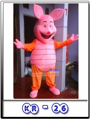 piglet pooh badut babi