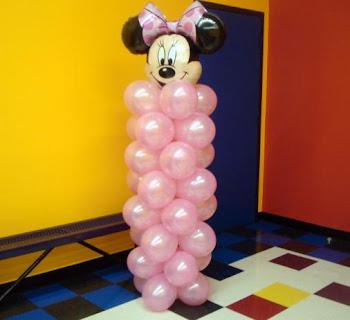 Colunas c/ balão metalizado!!!
