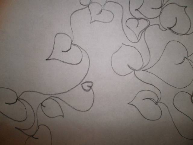 Free Motion Quilting Designs Hearts : Quilting Tutorials: Free Motion Quilting - Heart Shaped Leaves