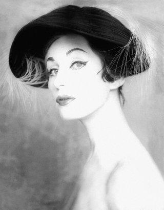 Fotografía retrato. Korda, 1958. Sombrero