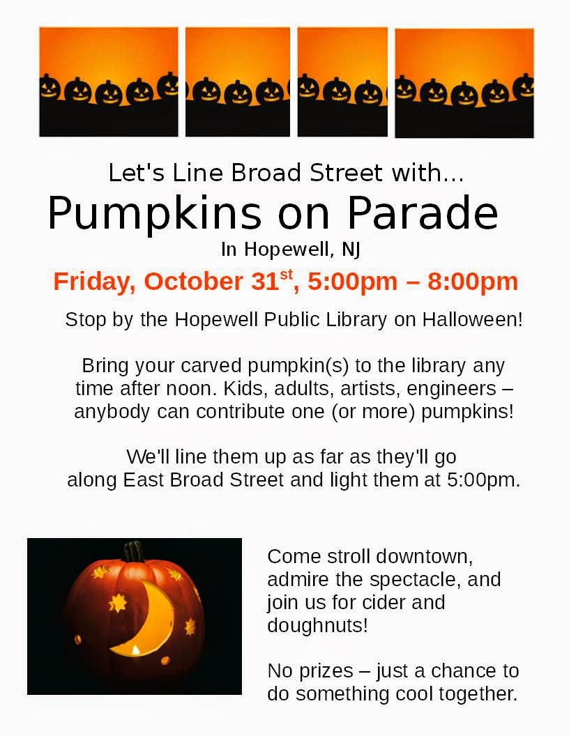 2014-Oct-31 Fri: Halloween :                 Pumpkins on Parade