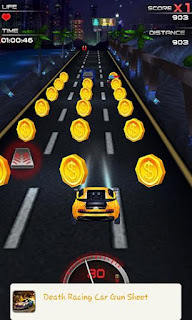 Screenshots of the Speed city night car 3D for Android tablet, phone.