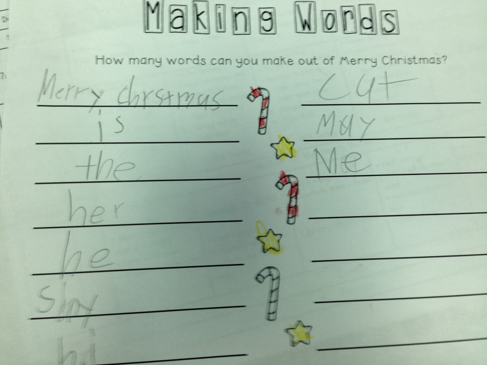 The Adventures of a K/1 Teacher: Holiday Fun in First Grade
