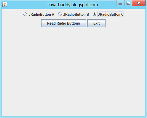 Java Buddy Example Of Using Swing Buttongroup