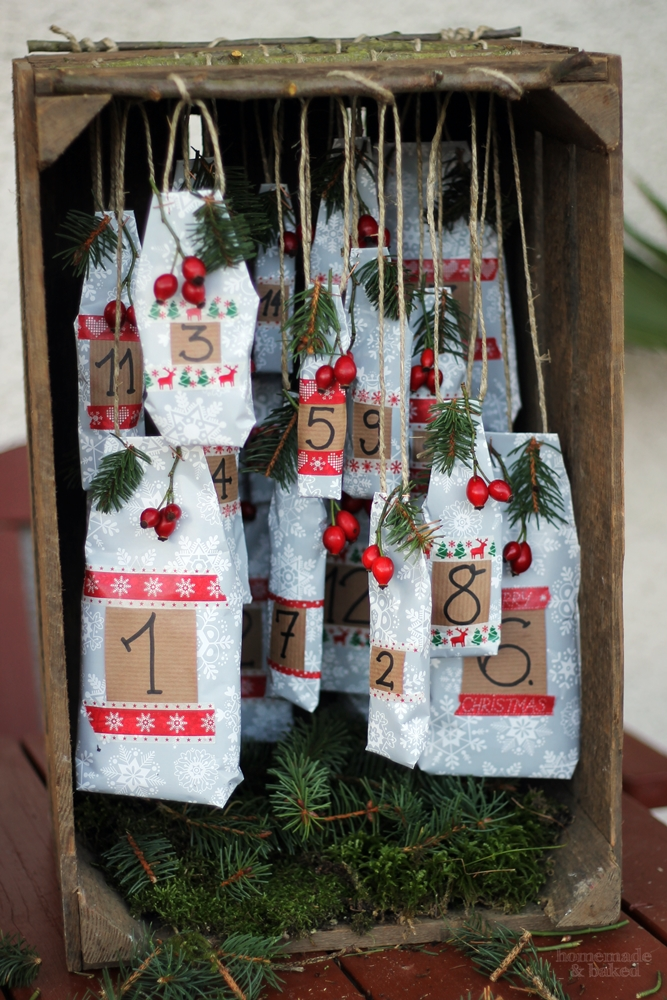 homemade and baked food blog diy adventskalender rustikal mit alter obstkiste. Black Bedroom Furniture Sets. Home Design Ideas