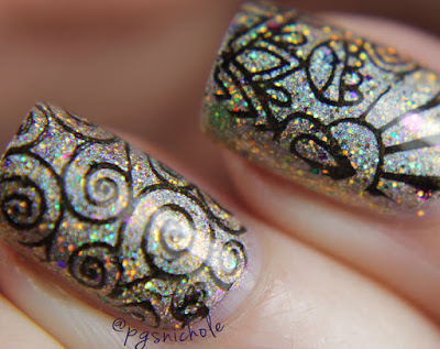 Glam Polish What A Feeling + Stamping by Bedlam Beauty