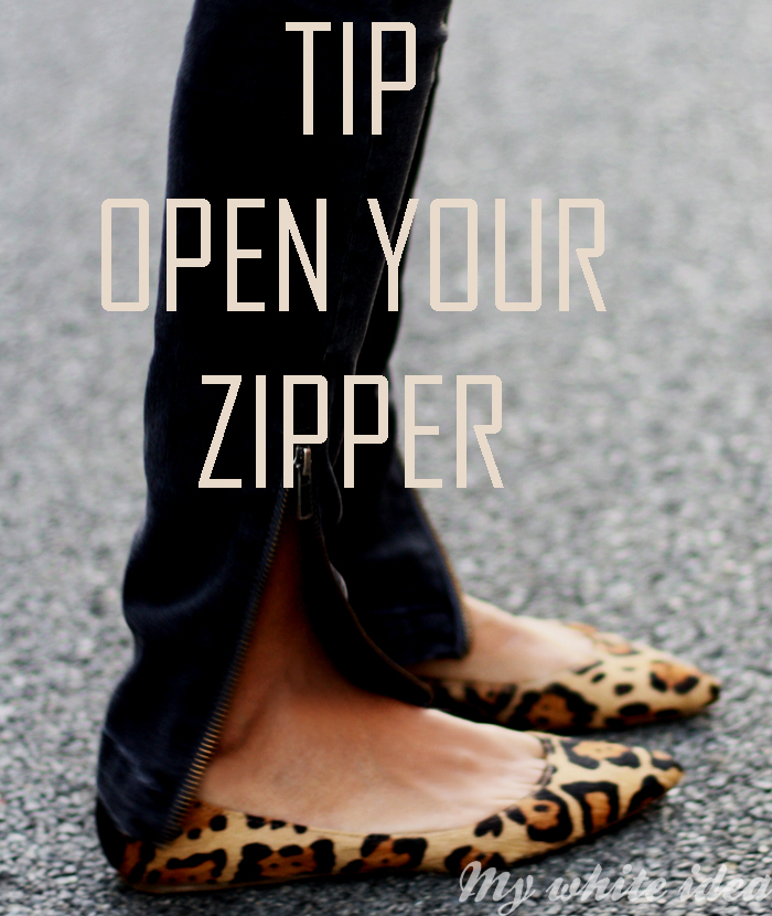 Your zipper is open