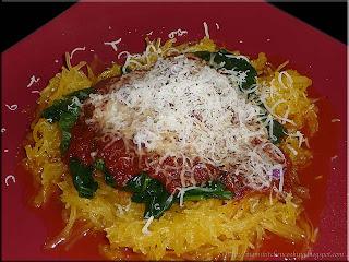 faux spaghetti using spaghetti squash