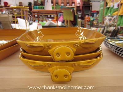 pig serving platter