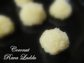 Coconut Rava Laddu