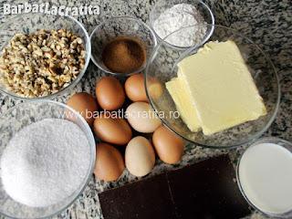 Prajitura cu ness si nuca ingrediente reteta crema si blat