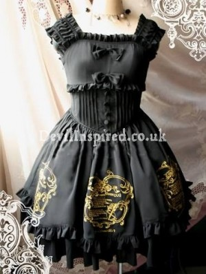 Silky Angel Embroidery Rococo Lolita Dress