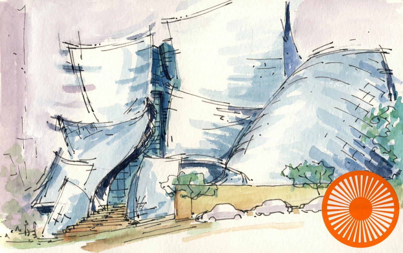 Rene Fijten Sketches Walt Disney Concert Hall