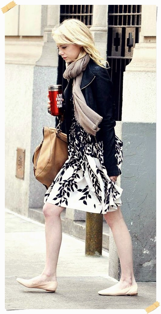 Casual Look Of Emma Stone Street Style | Celebrity Street Fashions