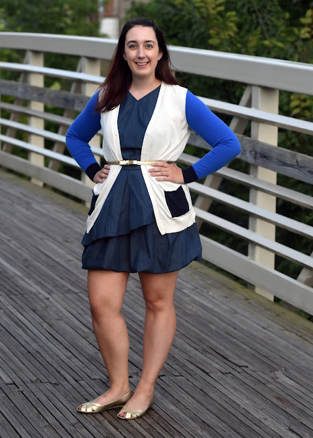 Style, Samantha Chic, Kate Spade, Kate Spade Saturday, denim dress, Target, Isaac Mizrahi, Forever 21, bow belt, boyfriend cardigan, fall layers, fall weather, sweater weather, fall fashion, fall style