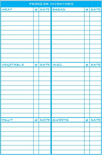 picture about Freezer Inventory Printable titled Freezer Stock - The Lovebugs Website