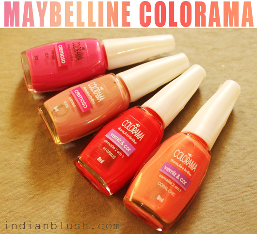 Maybelline Colorama Nailpolish sexy nude 40 graus coral chic shade swatches
