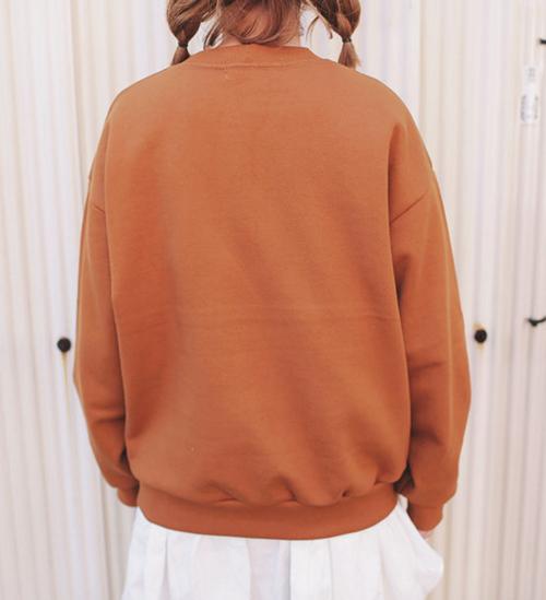 Ohio Print Loose Sweatshirt